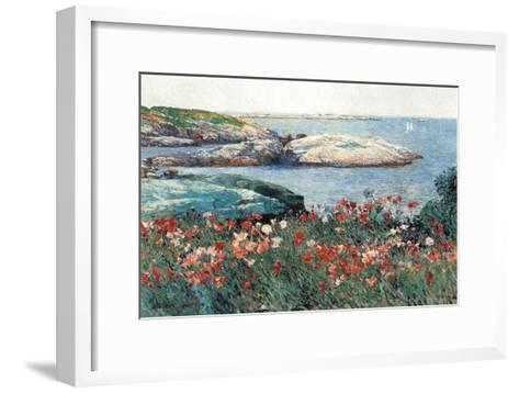 Poppies, Isle of Shoals-Childe Hassam-Framed Art Print