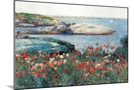 Poppies, Isle of Shoals-Childe Hassam-Mounted Art Print