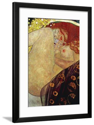 Danae-Gustav Klimt-Framed Art Print