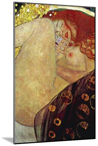 Danae-Gustav Klimt-Mounted Art Print