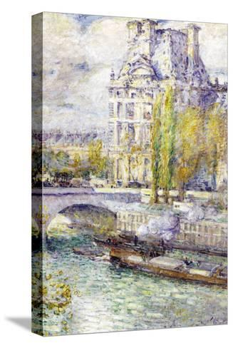 The Louvre On Port Royal-Childe Hassam-Stretched Canvas Print