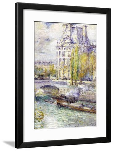 The Louvre On Port Royal-Childe Hassam-Framed Art Print