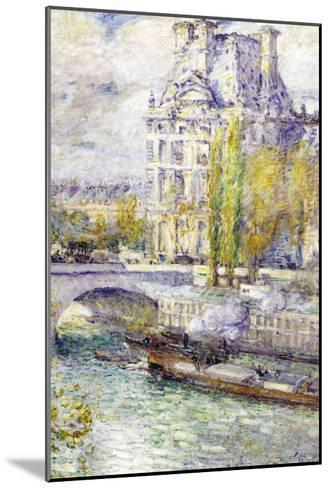 The Louvre On Port Royal-Childe Hassam-Mounted Art Print
