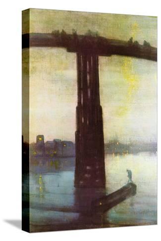 Old Battersea Bridge-James Abbott McNeill Whistler-Stretched Canvas Print