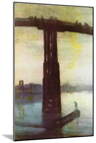 Old Battersea Bridge-James Abbott McNeill Whistler-Mounted Art Print