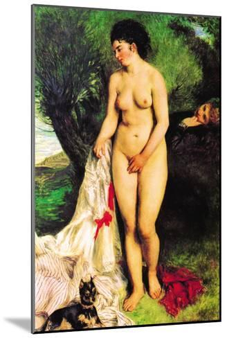 Bather with a Terrier-Pierre-Auguste Renoir-Mounted Art Print