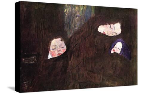 Mother with Children-Gustav Klimt-Stretched Canvas Print