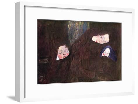 Mother with Children-Gustav Klimt-Framed Art Print