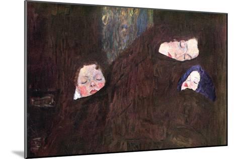 Mother with Children-Gustav Klimt-Mounted Art Print
