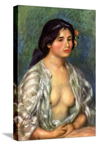 Gabrielle with Open Blouse-Pierre-Auguste Renoir-Stretched Canvas Print