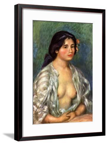 Gabrielle with Open Blouse-Pierre-Auguste Renoir-Framed Art Print