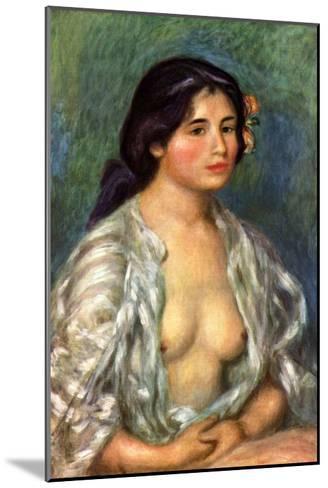 Gabrielle with Open Blouse-Pierre-Auguste Renoir-Mounted Art Print