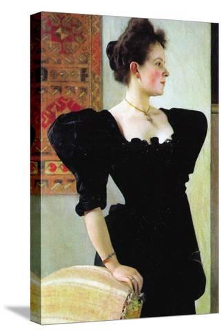 Portrait of Marie Breunig-Gustav Klimt-Stretched Canvas Print
