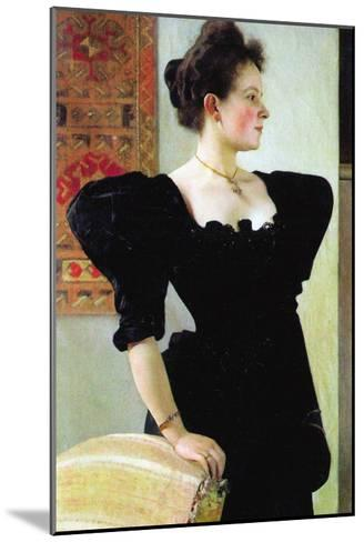 Portrait of Marie Breunig-Gustav Klimt-Mounted Art Print