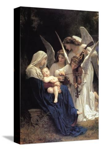 Song of The Angels-William Adolphe Bouguereau-Stretched Canvas Print