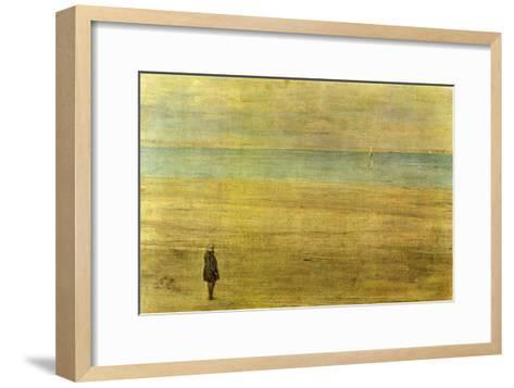 Harmony In Blue and Silver - Trouville-James Abbott McNeill Whistler-Framed Art Print
