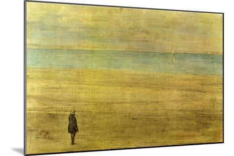 Harmony In Blue and Silver - Trouville-James Abbott McNeill Whistler-Mounted Art Print