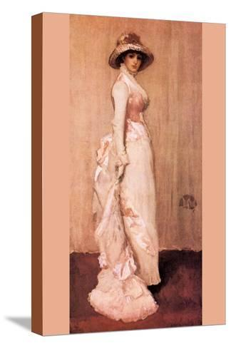 Nocturne In Pink and Gray, Portrait of Lady Meux-James Abbott McNeill Whistler-Stretched Canvas Print