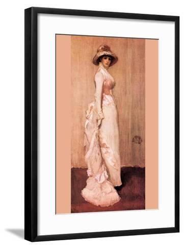 Nocturne In Pink and Gray, Portrait of Lady Meux-James Abbott McNeill Whistler-Framed Art Print