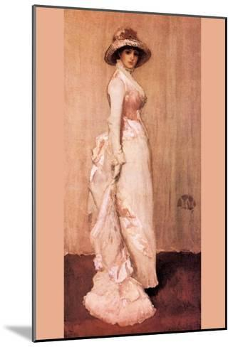 Nocturne In Pink and Gray, Portrait of Lady Meux-James Abbott McNeill Whistler-Mounted Art Print