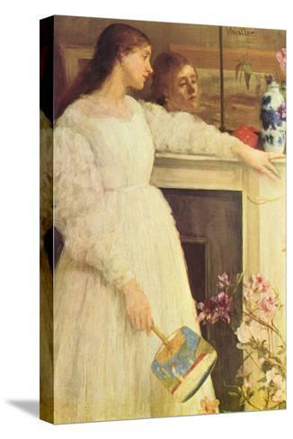 Symphony In White No. 2, Girls In White-James Abbott McNeill Whistler-Stretched Canvas Print