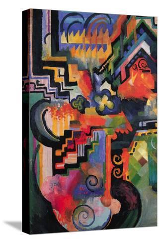 Colored Composition (Homage � Sebastian Johann Bach)-Auguste Macke-Stretched Canvas Print
