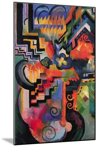 Colored Composition (Homage � Sebastian Johann Bach)-Auguste Macke-Mounted Art Print