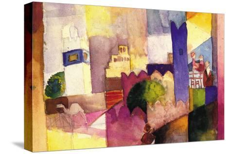 Kairouan-Auguste Macke-Stretched Canvas Print