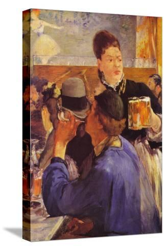 Beer Waitress-Edouard Manet-Stretched Canvas Print
