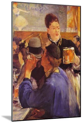 Beer Waitress-Edouard Manet-Mounted Art Print