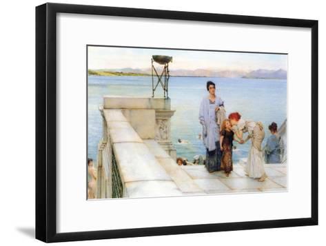 A Kiss-Sir Lawrence Alma-Tadema-Framed Art Print
