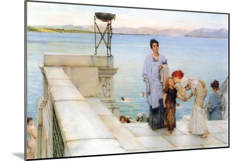 A Kiss-Sir Lawrence Alma-Tadema-Mounted Art Print