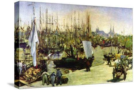 Port of Bordeaux-Edouard Manet-Stretched Canvas Print