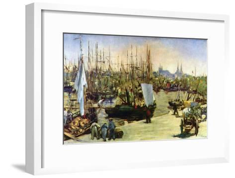 Port of Bordeaux-Edouard Manet-Framed Art Print