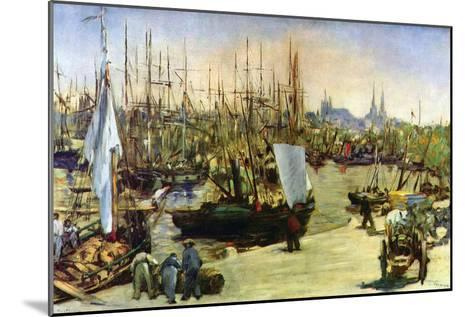 Port of Bordeaux-Edouard Manet-Mounted Art Print