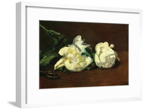 Still Life, White Peony-Edouard Manet-Framed Art Print