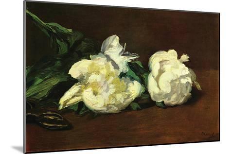 Still Life, White Peony-Edouard Manet-Mounted Art Print