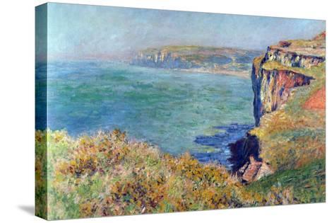 Cliffs At Varengeville-Claude Monet-Stretched Canvas Print
