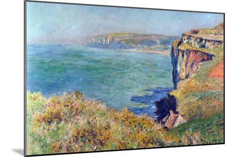 Cliffs At Varengeville-Claude Monet-Mounted Art Print