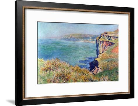 Cliffs At Varengeville-Claude Monet-Framed Art Print