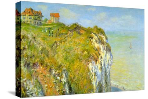 Cliffs-Claude Monet-Stretched Canvas Print