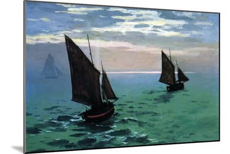 Le Havre - Exit The Fishing Boats From The Port-Claude Monet-Mounted Art Print