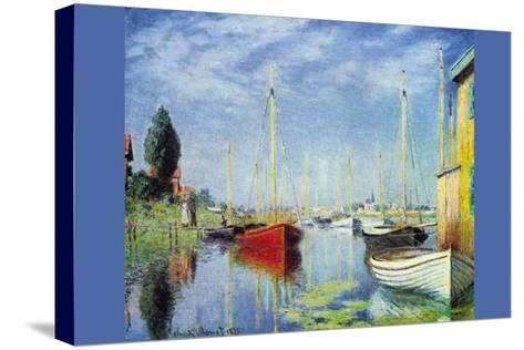 Pleasure Boats At Argenteuil-Claude Monet-Stretched Canvas Print