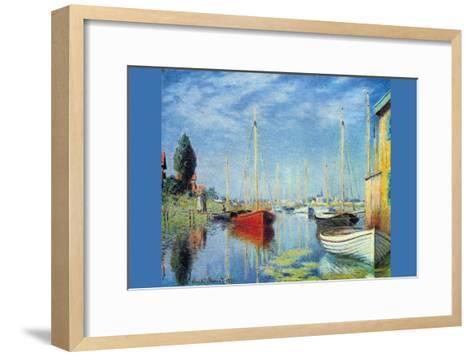 Pleasure Boats At Argenteuil-Claude Monet-Framed Art Print