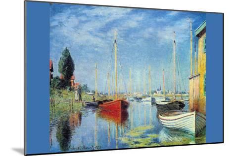 Pleasure Boats At Argenteuil-Claude Monet-Mounted Art Print