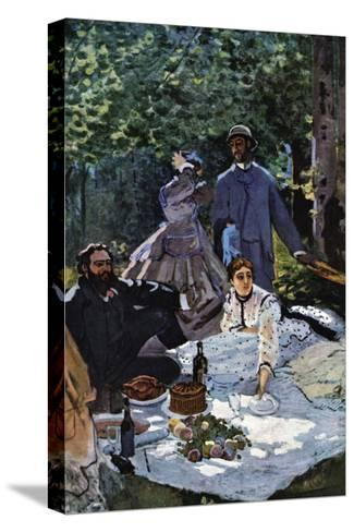 The Breakfast Outdoors, Central Section-Claude Monet-Stretched Canvas Print