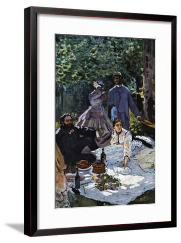 The Breakfast Outdoors, Central Section-Claude Monet-Framed Art Print