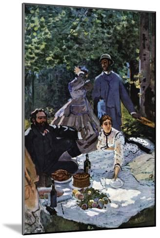 The Breakfast Outdoors, Central Section-Claude Monet-Mounted Art Print