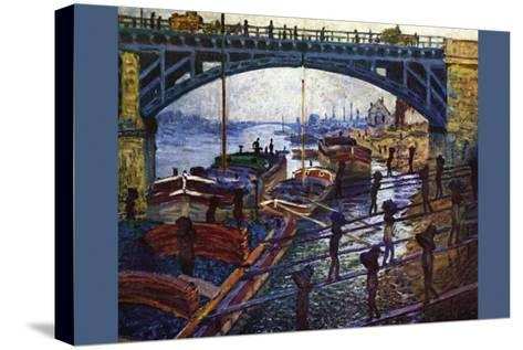 The Coal Carrier-Claude Monet-Stretched Canvas Print
