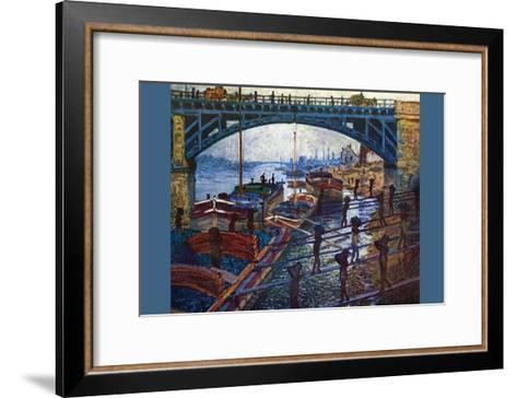 The Coal Carrier-Claude Monet-Framed Art Print